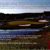 IPS, Industrial Piping Systems, 4th Annual Golf Outing Flyer, back