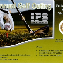 IPS, Industrial Piping Systems, 4th Annual Golf Outing Flyer, front